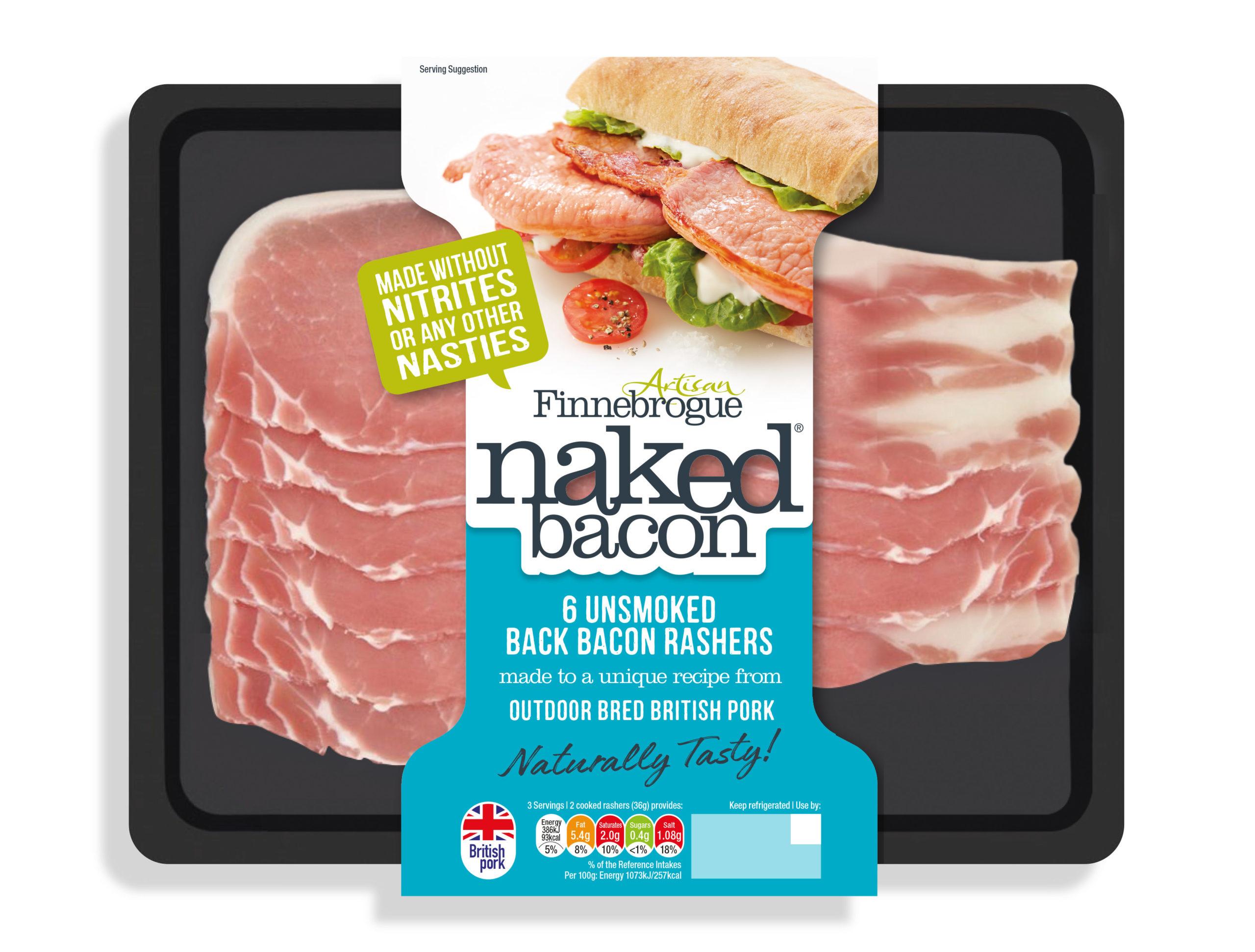 Finnebrogue Naked Unsmoked Back Bacon Rashers